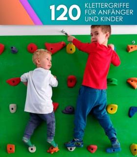 120er-Pack Kinderklettergriffe